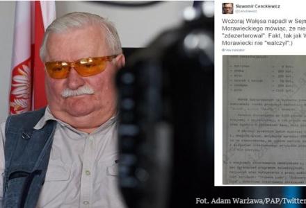 """Prof. Cenckiewicz: """"Fakt, tak jak Wałęsa to Morawiecki nie 'walczył'"""". Hurtowe ilości alkoholu dla internowanego Wałęsy. Szokujący dokument!"""