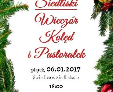 Wieczór Kolęd i Pastorałek w Siedliskach oraz Jasełka w Lipsku