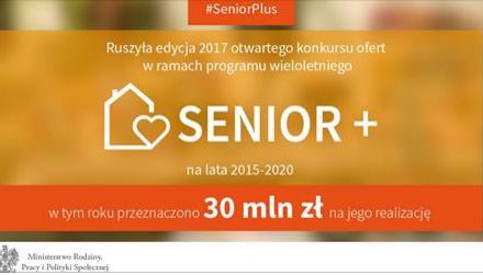 """Otwarty konkurs ofert w ramach Programu Wieloletniego """"SENIOR+"""" na lata 2015-2020, edycja 2017 r."""