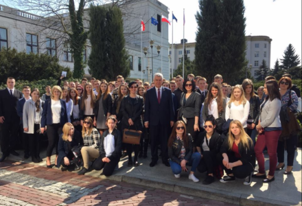 Młodzież z wizytą w Sejmie i Pałacu Prezydenckim