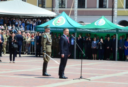 Prezydent Andrzej Duda na święcie Straży Granicznej w Zamościu