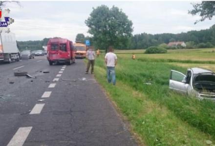 Wypadek na K-17 w miejscowości Sitaniec