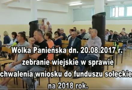 Zebranie wiejskie mieszkańców Wólka Panieńska [ VIDEO ]