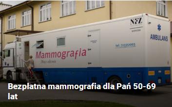 Bezpłatna mammografia dla Pań 50-69 lat