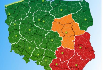 Ostrzeżenia meteorologiczne – województwo lubelskie