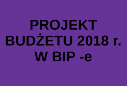 Projekt budżetu Gminy Zamość na rok 2018 dostępny w BIP!