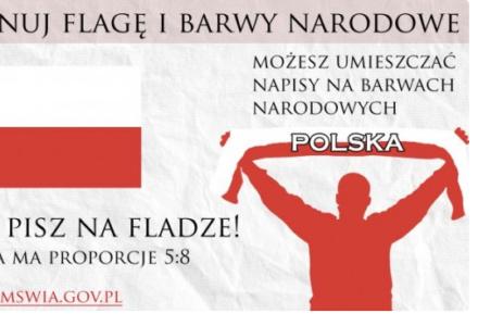 Kampania MSWiA. Szanuj flagę i hymn Rzeczpospolitej