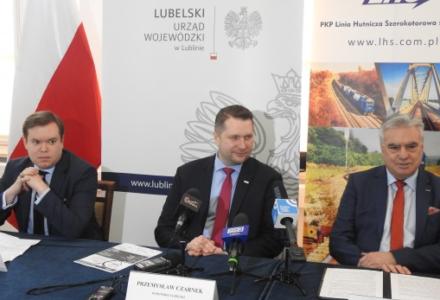 Inwestycje PKP LHS w województwie lubelskim