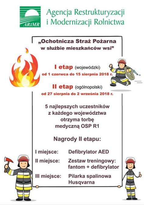 """ARiMR ogłasza konkurs dla OSP """"Ochotnicza Straż Pożarna w służbie mieszkańców wsi"""""""