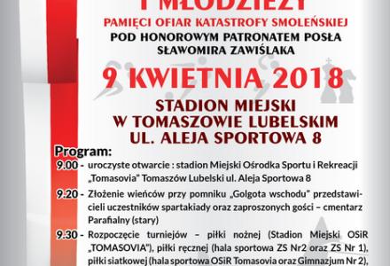 VII Spartakiada Dzieci i Młodzieży – Pamięci Ofiar Katastrofy Smoleńskiej Tomaszów Lub. 2018