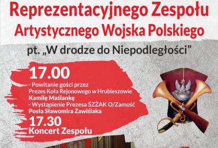 Zaproszenie na koncert Reprezentacyjnego Zespołu Artystycznego Wojska Polskiego w Hrubieszowie