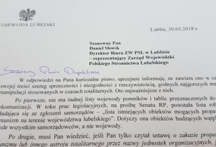 Wojewoda Przemysław Czarnek o bohaterstwie Batalionów Chłopskich i manipulacjach PSL