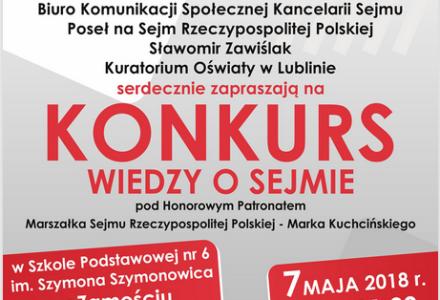 Zaproszenie do udziału w Konkursie Wiedzy o Sejmie