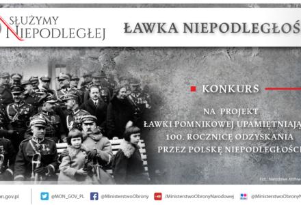 """""""Ławka Niepodległości"""" projekt na 100. rocznicę odzyskania przez Polskę niepodległości"""