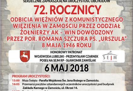 72. rocznica odbicia więźniów z komunistycznego więzienia w Zamościu