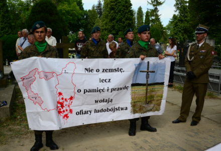 Odsłonięcie pomnika – Krzyża Pamięci Ofiar ludobójstwa OUN-UPA – cmentarz w Zamościu 10.06.2018 [ VIDEO ]