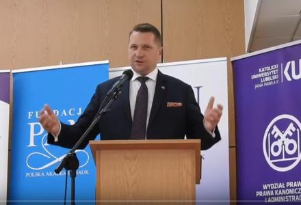 Wojewoda Przemysław Czarnek o przeciwnikach reformy wymiaru sprawiedliwości