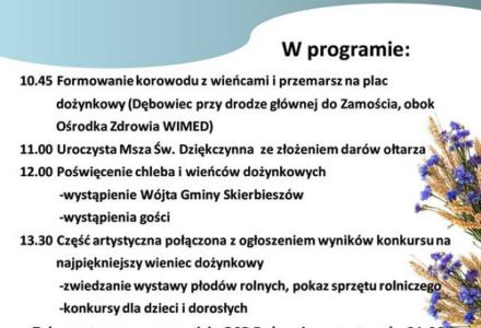 Dożynki Gminno-Parafialne w Gminie Skierbieszów