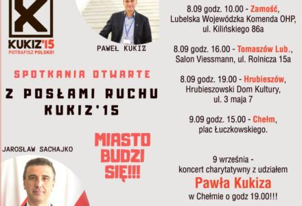 Spotkania otwarte z posłami Kukiz'15 w Zamościu