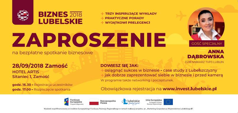 """""""Biznes Lubelskie 2018"""" – spotkanie w Zamościu"""