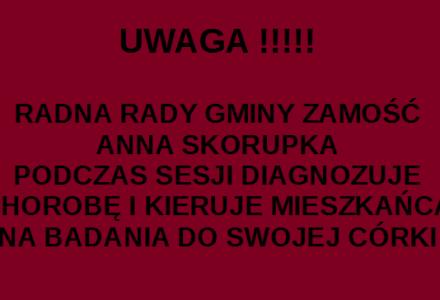 Kolejny skandal na sesji Rady Gminy Zamość z kolejnym udziałem radnej Anny Skorupki