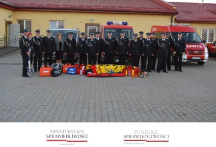 Przekazanie sprzętu dla Jednostek Ochotniczych Straży Pożarnych zakupionego w ramach dotacji z Funduszu Sprawiedliwości