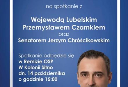 Spotkanie z Kandydatem na Wójta Gminy Sitno i Wojewodą Lubelskim Przemysławem Czarnkiem