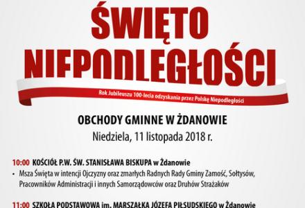 Narodowe Święto Niepodległości – obchody gminne w Żdanowie