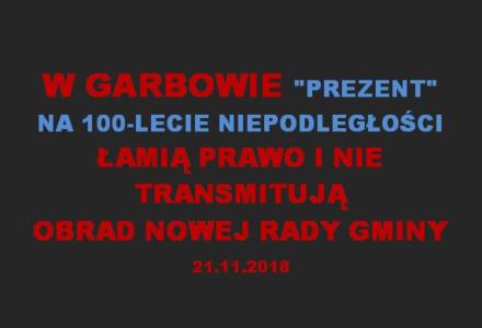 Władze Gminy Garbów nie zapewniły transmisji z obrad nowej Rady Gminy. Wszystkie sąsiednie gminy mają transmisję