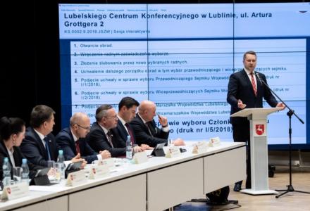 Wojewoda na I sesji Sejmiku: Deklaruję pełną współpracę (wideo)