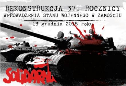 37. rocznica wprowadzenia Stanu Wojennego – program obchodów w Zamościu