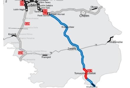S17 od Piask przez Gminę Zamość do granicy z Ukrainą