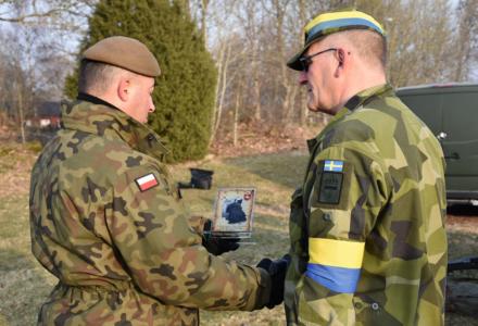 Wizyta dowódcy 2 LBOT w Szwecji