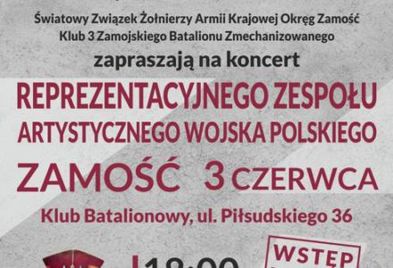 Koncert Reprezentacyjnego Zespołu Artystycznego Wojska Polskiego w Zamościu