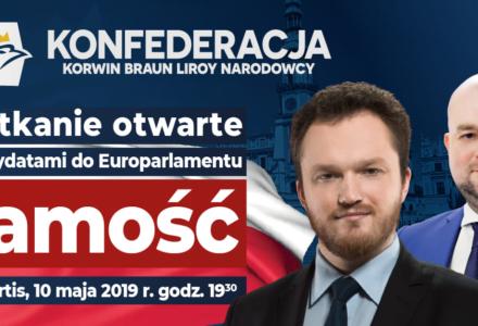 Spotkanie z liderami listy Konfederacji w Zamościu !