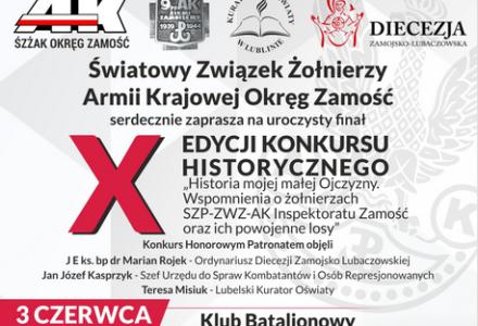 """""""Historia mojej małej Ojczyzny"""" – finał X Edycji Konkursu Historycznego"""