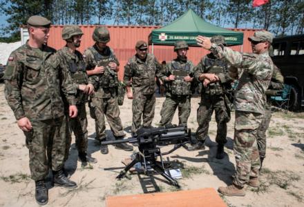 Amerykańscy Gwardziści z wizytą w lubelskiej brygadzie OT