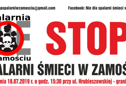 """""""Nie dla spalarni w Zamościu"""" – PROTEST"""