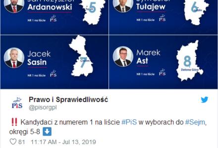 """Jacek Sasin jedynką w okręgu nr 7 a Sylwester Tułajew jedynką w okręgu nr 6. Jarosław Kaczyński przedstawił 41 """"jedynek"""""""