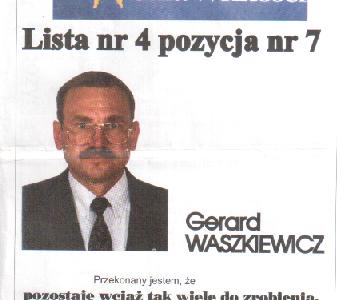 Były zamojski komendant policji Gerard Waszkiewicz ponownie startuje do parlamentu
