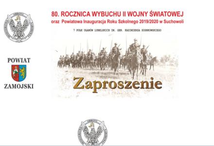 Obchody 80 Rocznicy Wybuchu II Wojny Światowej oraz Powiatowej Inauguracji Roku Szkolnego 2019/2020 w Suchowoli