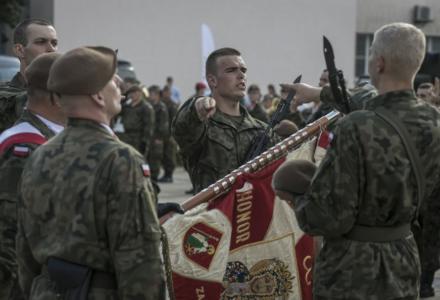 Pierwsza promocja podoficerska i dwudziesta pierwsza przysięga Terytorialsów w Puławach