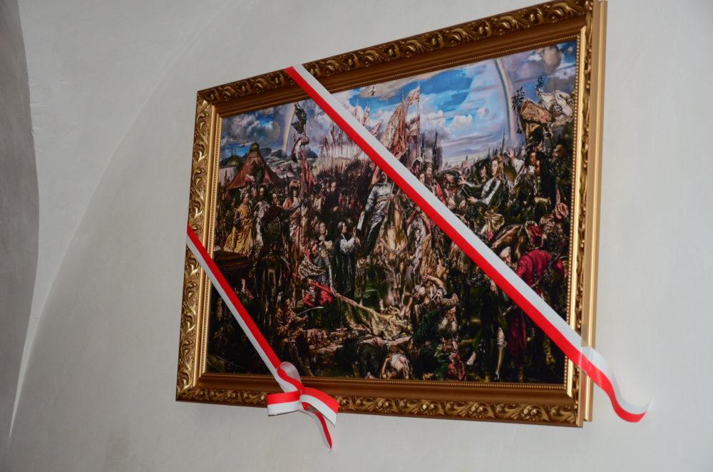 """Uroczyste odsłonięcie obrazu ,,Bitwa pod Wiedniem"""" w Kościele Św. Katarzyny w Zamościu [ VIDEO ]"""