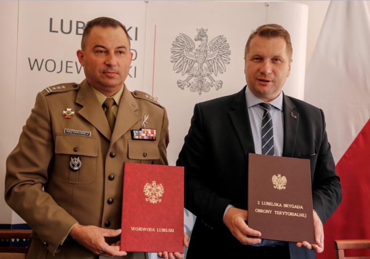 Porozumienie Terytorialsów i Wojewody Lubelskiego na rzecz bezpieczeństwa w regionie