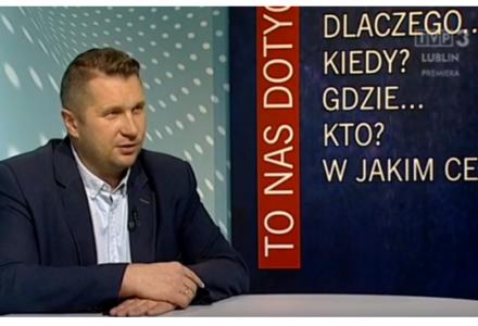 """Wojewoda Przemysław Czarnek w TVP 3 Lublin: """"Doceniono moją pracę"""""""