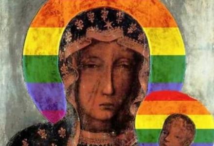 """Tak rząd PiS """"chroni"""" Polaków przed LGBT. Prokurator: Matka Boża z aureolą w barwach LGBT nie uraża uczuć religijnych"""