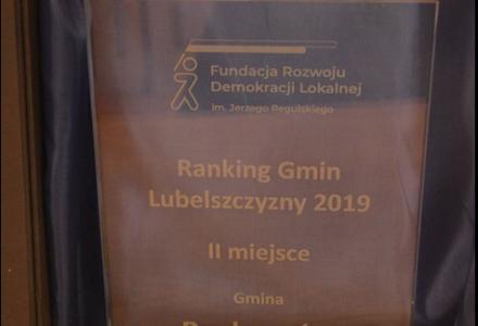 Gmina Zamość z wyróżnieniem w rankingu Gmin Lubelszczyzny