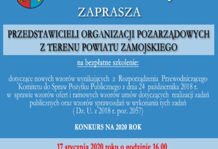 Szkolenie dla organizacji pozarządowych działających na terenie powiatu zamojskiego