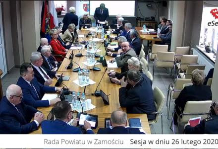 XII sesja Rady Powiatu w Zamościu [ VIDEO ]