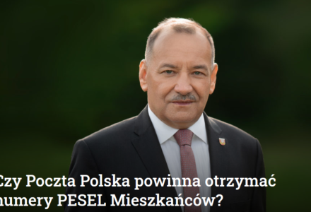 """Czy Poczta Polska powinna otrzymać numery PESEL Mieszkańców? Wójt Ryszard Gliwiński mówi stanowcze """"NIE """""""